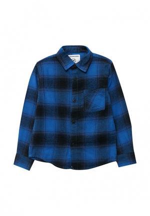 Рубашка Piazza Italia. Цвет: синий