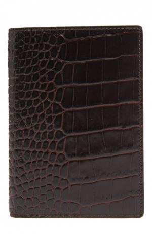 Футляр для паспорта Smythson. Цвет: коричневый