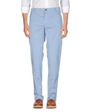 Повседневные брюки HEAVEN TWO. Цвет: небесно-голубой