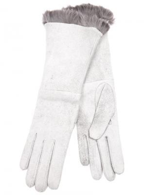 Перчатки с меховой подкладкой Imoni. Цвет: серый