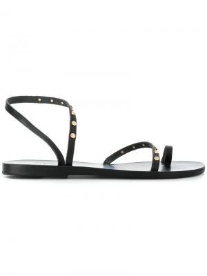 Сандалии с заклепками Apli Ancient Greek Sandals. Цвет: чёрный