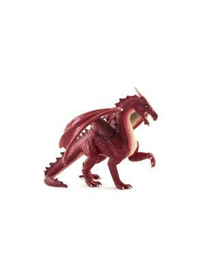 Фигурка Mojo (Animal Planet)-Дракон, цвет:красный (Deluxe). Цвет: темно-бордовый, бежевый, бордовый