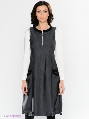 Платье Valeria Lux. Цвет: темно-серый