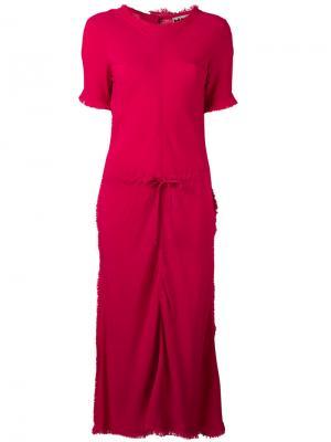 Платье с присборенной талией Hache. Цвет: розовый и фиолетовый