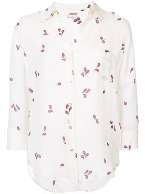 Рубашка с мелким принтом Lagence L'agence. Цвет: телесный