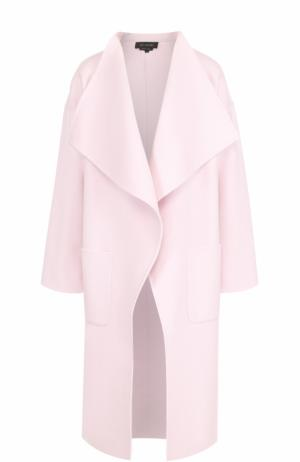 Пальто прямого кроя с накладными карманами St. John. Цвет: светло-розовый