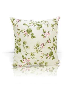 Декоративная подушка Gant Kauffort. Цвет: зеленый, бежевый, белый