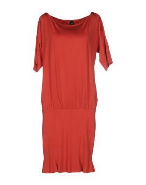 Платье до колена NOLITA. Цвет: ржаво-коричневый