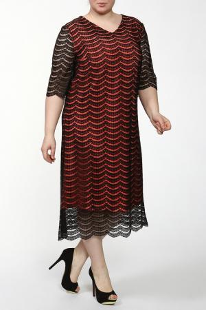 Платье Lia Mara. Цвет: черный, оранжевый