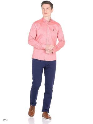 Рубашка U.S. Polo Assn.. Цвет: розовый, бледно-розовый