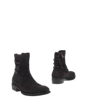 Полусапоги и высокие ботинки JOHN VARVATOS. Цвет: темно-фиолетовый