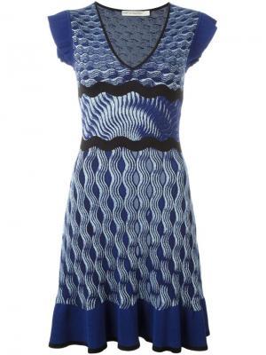 Вязаное платье Paulisto Mary Katrantzou. Цвет: синий