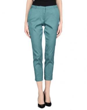Повседневные брюки KILTIE. Цвет: цвет морской волны