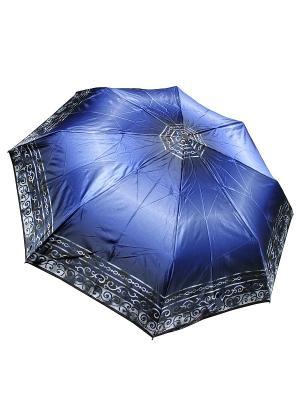 Зонт Edmins. Цвет: темно-синий, серебристый, синий