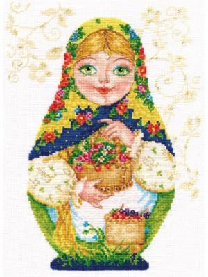 Набор для вышивания Матрешки. Летняя краса 19х26 см. Алиса. Цвет: желтый, зеленый, коричневый, красный