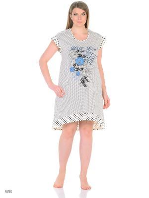 Ночная сорочка NAGOTEX. Цвет: белый, черный, синий