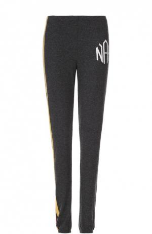 Спортивные брюки с контрастными лампасами Wildfox. Цвет: черный