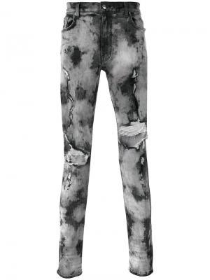 Узкие джинсы с прорезами Amiri. Цвет: чёрный
