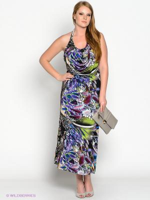 Платье МадаМ Т. Цвет: фиолетовый, синий, зеленый