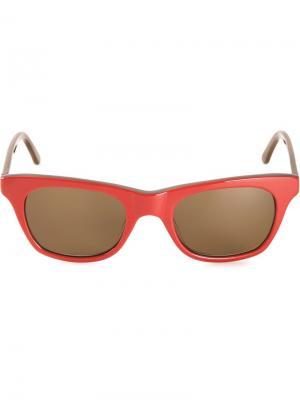 Солнцезащитные очки Wayfarer Chandler X Selima Optique. Цвет: красный