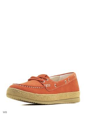 Топсайдеры GEOX. Цвет: оранжевый, коралловый