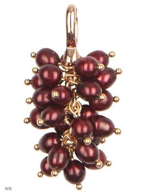Подвеска Виноградная гроздь из темно-бордового Жемчуга ЖемАрт. Цвет: темно-бордовый, золотистый
