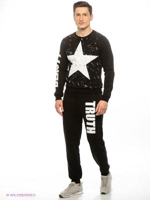 Спортивный костюм Marco Masini. Цвет: черный