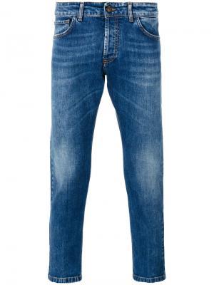 Укороченные джинсы скинни Entre Amis. Цвет: синий