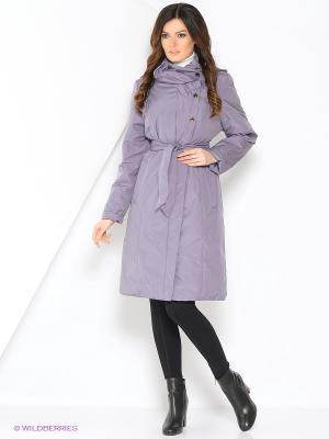 Пальто DONNA Maritta. Цвет: сиреневый