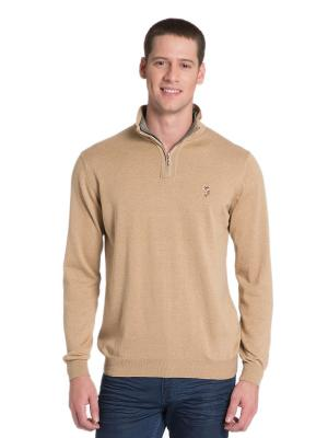 Джемпер U.S. Polo Assn.. Цвет: светло-коричневый