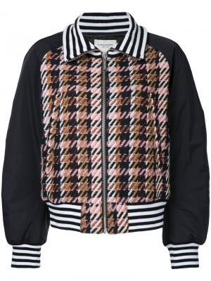 Куртка-бомбер  в клетку Zita Public School. Цвет: многоцветный