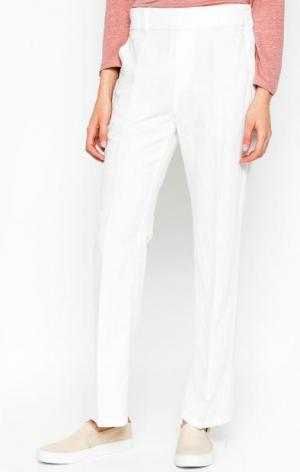 Белые брюки прямого кроя DRYKORN. Цвет: белый