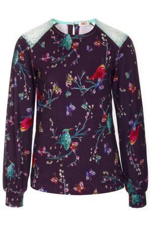 Блуза M&D. Цвет: фиолетовый
