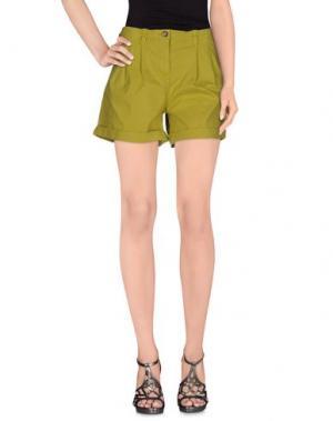 Повседневные шорты NICE THINGS by PALOMA S.. Цвет: кислотно-зеленый