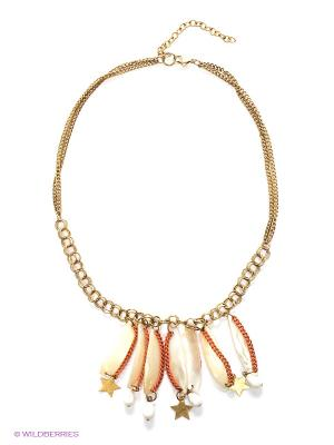 Ожерелье ГАНГ. Цвет: бежевый