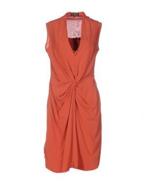 Платье до колена IVAN MONTESI. Цвет: ржаво-коричневый