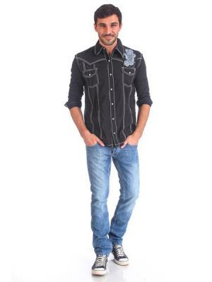 Рубашка мужская VON DUTCH. Цвет: черный