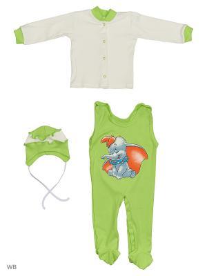 Комплекты нательные для малышей KIDONLY. Цвет: зеленый