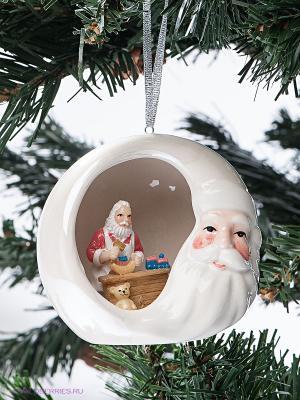 Фигурка подвесная Новогодние радости Pavone. Цвет: белый, красный