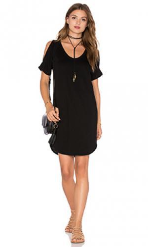 Платье-рубашка Lanston. Цвет: черный
