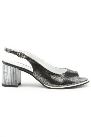 Босоножки Sandm. Цвет: серебро, черный