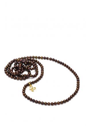 Ожерелье 141466 Nasonpearl. Цвет: коричневый