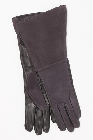 Перчатки Eleganzza. Цвет: серо-фиолетовый