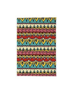 Обложка для паспорта Яркий орнамент Mitya Veselkov. Цвет: зеленый, желтый, красный