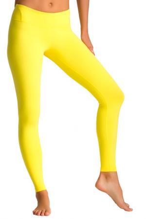 Леггинсы PURE APPAREL. Цвет: yellow