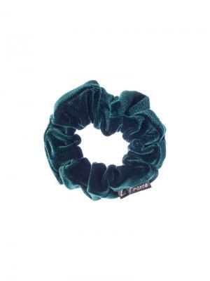 Резинка бархатная малая la France. Цвет: зеленый