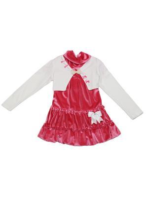Комплект нарядный (трикотажное болеро+велюровое платье). ASILGUC