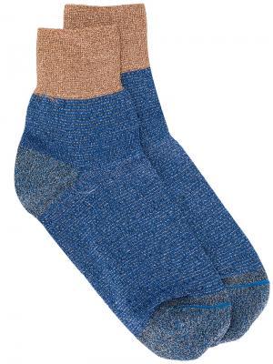 Носки с блестками Missoni. Цвет: синий