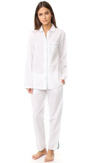 Пижама Macgill Three J NYC. Цвет: белый/бирюзовая окантовка