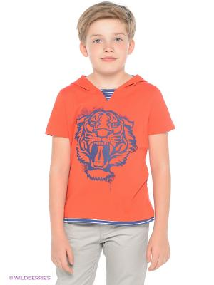 Футболка S`Cool. Цвет: оранжевый